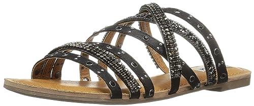 41e63ffe8fb4 Not Rated Women s Caviar Slide Sandal Black 6 ...