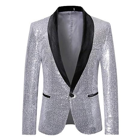 4e74bf4c7e59e Amazon.com: Men's Fashion Suit Jacket Blazer One Button Luxury ...