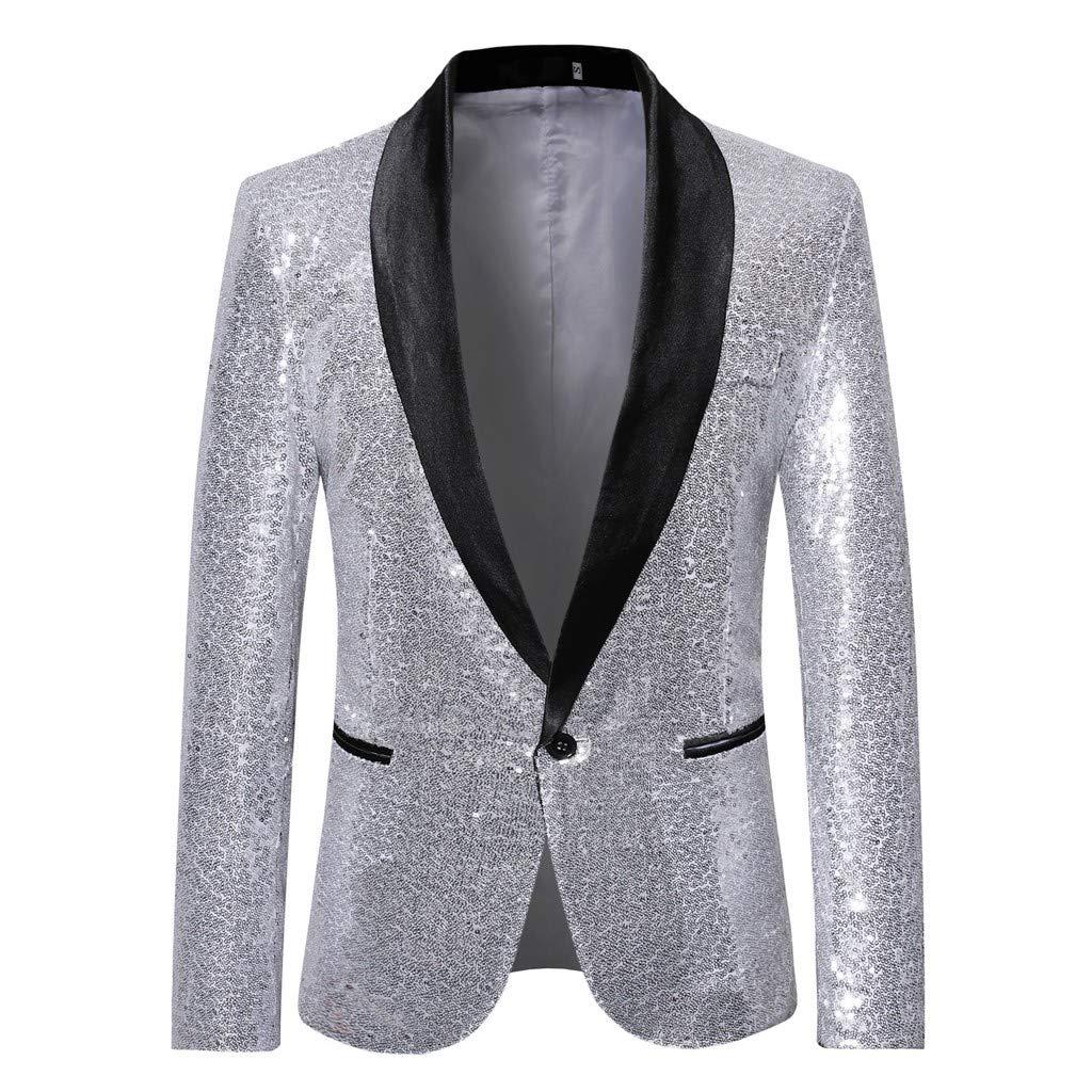 ¡Gran promoción!Trajes de los Hombres Rovinci Elegante Traje sólido Blazer Boda de Negocios Outwear Chaquetas Tops Blusas con Estilo One Buckle: Amazon.es: ...