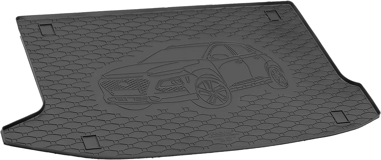 Koffermatte Kofferraumwanne Gep/äckraummatte Antirutsch RIGUM Passgenau f/ür Hyundai Kona ab 2017