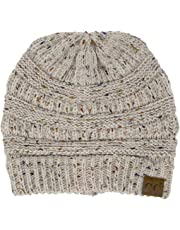 Funky Junque Confetti Knit Beanie - Thick Soft Warm Winter Hat - Unisex
