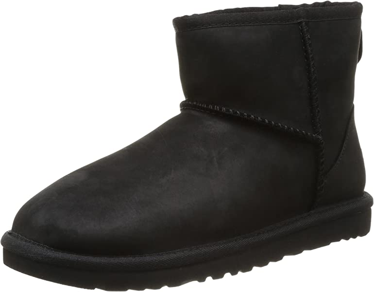 03a0dc042e0 UGG Classic Mini Leather - Botas para Mujer, Color Negro, Talla 38 ...