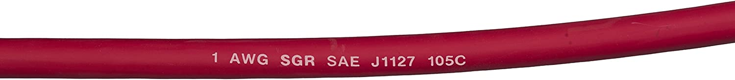 Sierra BC88523 Battery Cable With Terminals 2 Red 4 Gauge