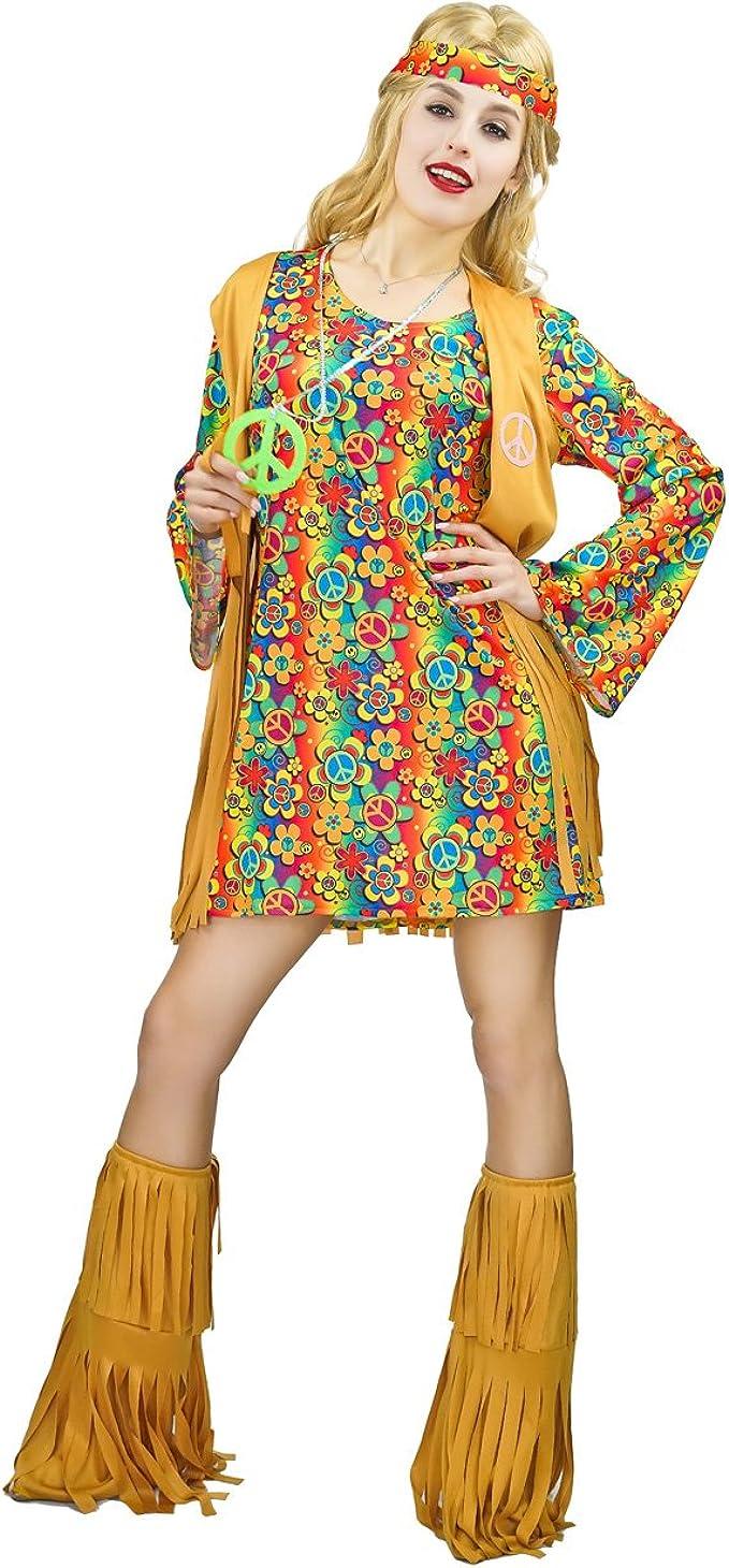 60s Costumes: Hippie, Go Go Dancer, Flower Child, Mod Style Womens Fringe Hippie Costume 60s 70s Dress $25.50 AT vintagedancer.com