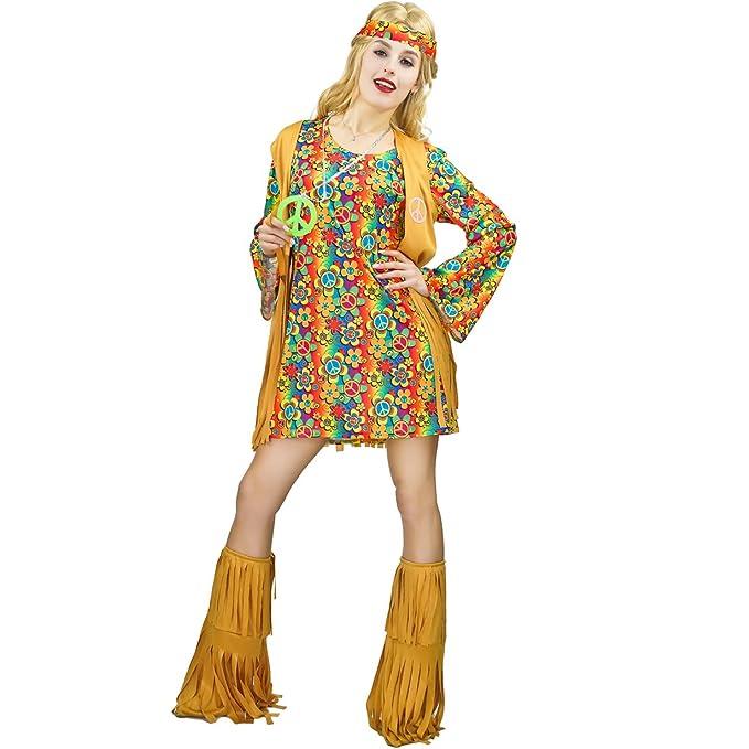 Vintage Dresses Australia- 20s, 30s, 40s, 50s, 60s, 70s flatwhite Womens Fringe Hippie Costume 60s 70s Dress AUD 41.92 AT vintagedancer.com