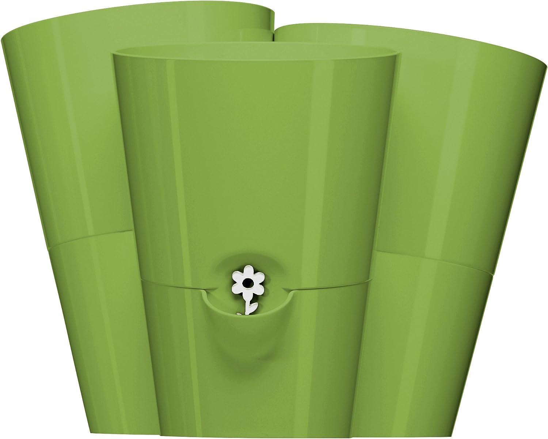 517535 Self watering Emsa Trio Herb Pot for Fresh Herbs Green Water level Indicator 27 x25 x21 cm FRESH HERBS TRIO