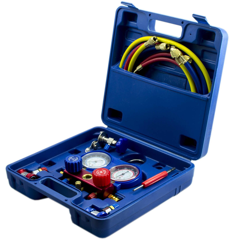 R134 R134A R12 R22 R404A R502 AC HVAC Air Conditioner Freon Manifold Gauge Set