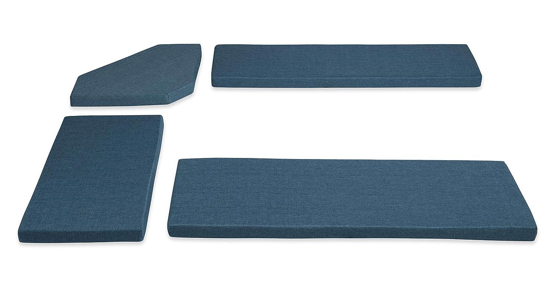 Linon Home Décor Destin Nook Vintage Blue Cushion Set,