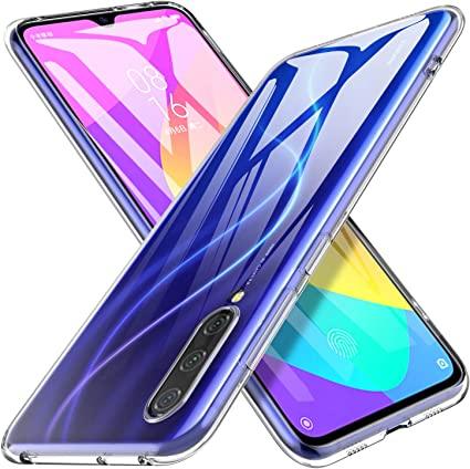 Xiaomi Mi9 Cover Silicone Ultra Morbida Colori TPU Vetro Temperato Nero 3D Mi