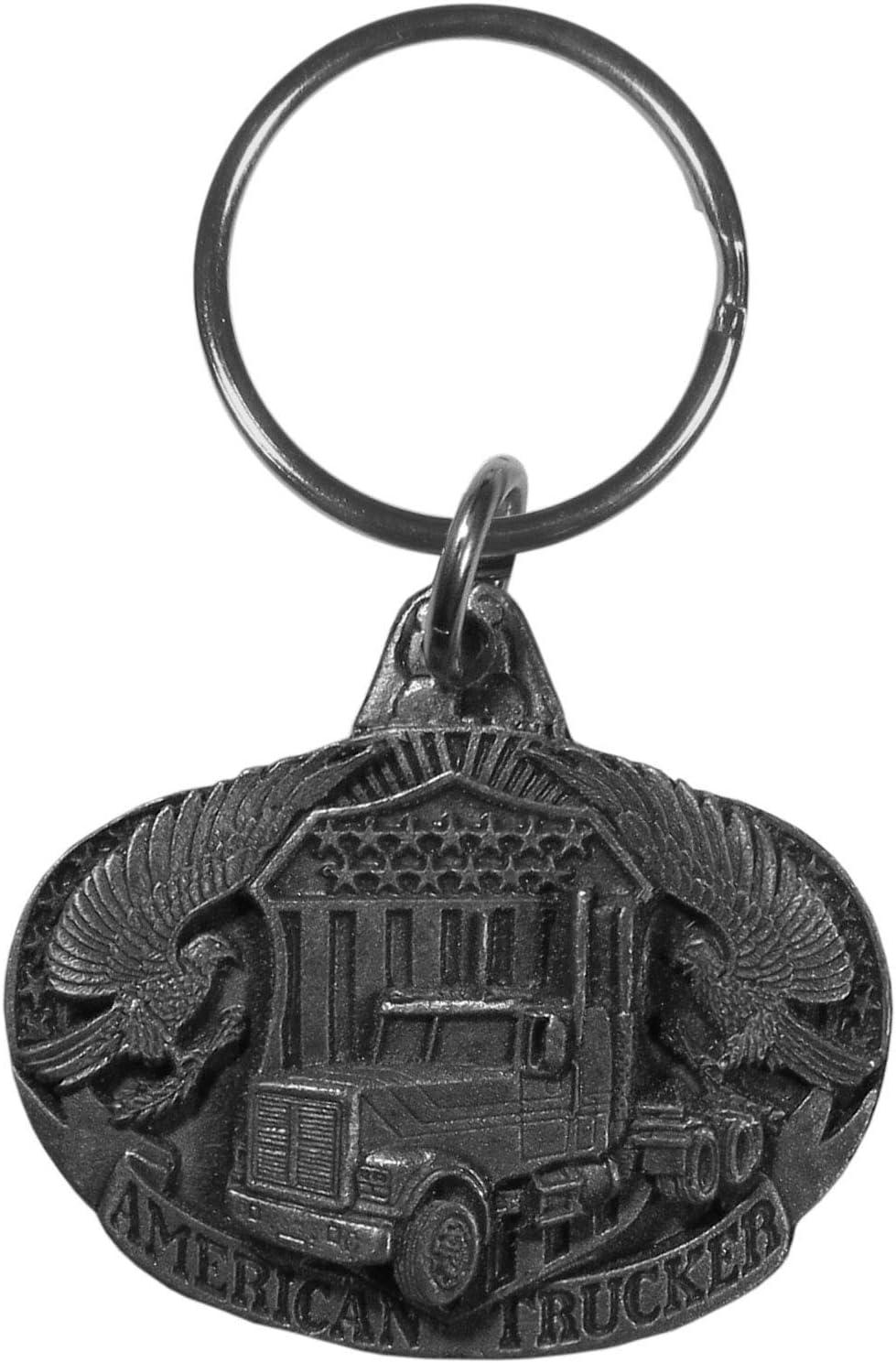 Siskiyou Free Form Eagles Head Antiqued Key Chain