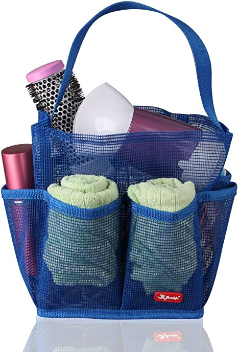 Travel Carry Storage Pouch Bath Toiletry Caddy Quick Dry Bag Mesh Shower Tote