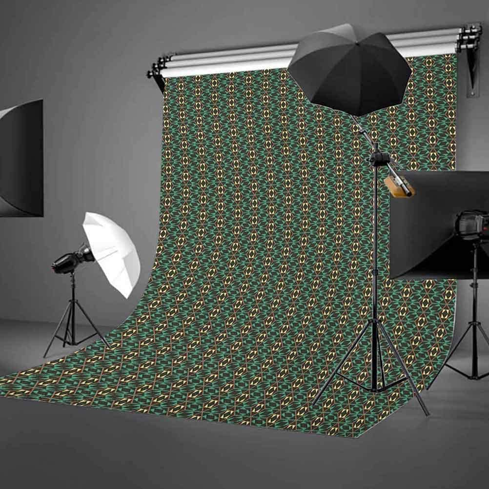 7x10 FT Floral Vinyl Photography Background Backdrops,Classical Pink Roses with Green Leaves on Vertical Borders Old Fashioned Design Background for Photo Backdrop Studio Props Photo Backdrop Wall