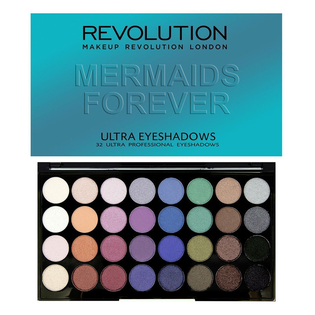 Makeup Revolution London 32 Eyeshadow MERMAIDS FOREVER 18258