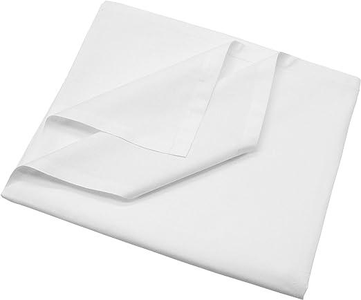 ZOLLNER Sábana Bajera de algodón Blanca, Cama 180, 290x300 cm ...