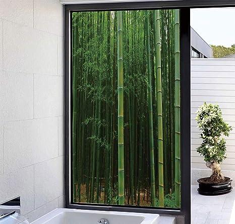 YOLIYANA - Película decorativa para ventana de cristal, sin pegamento, para privacidad, ventana, adhesivo, 3D, diseño de lunares, rayas de vidrio, pegatinas para puertas, armarios, baño, 17 x 24 pulgadas: Amazon.es: Hogar