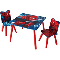 Marvel Spider-Man Kids Table and 2 Chair Set by HelloHome