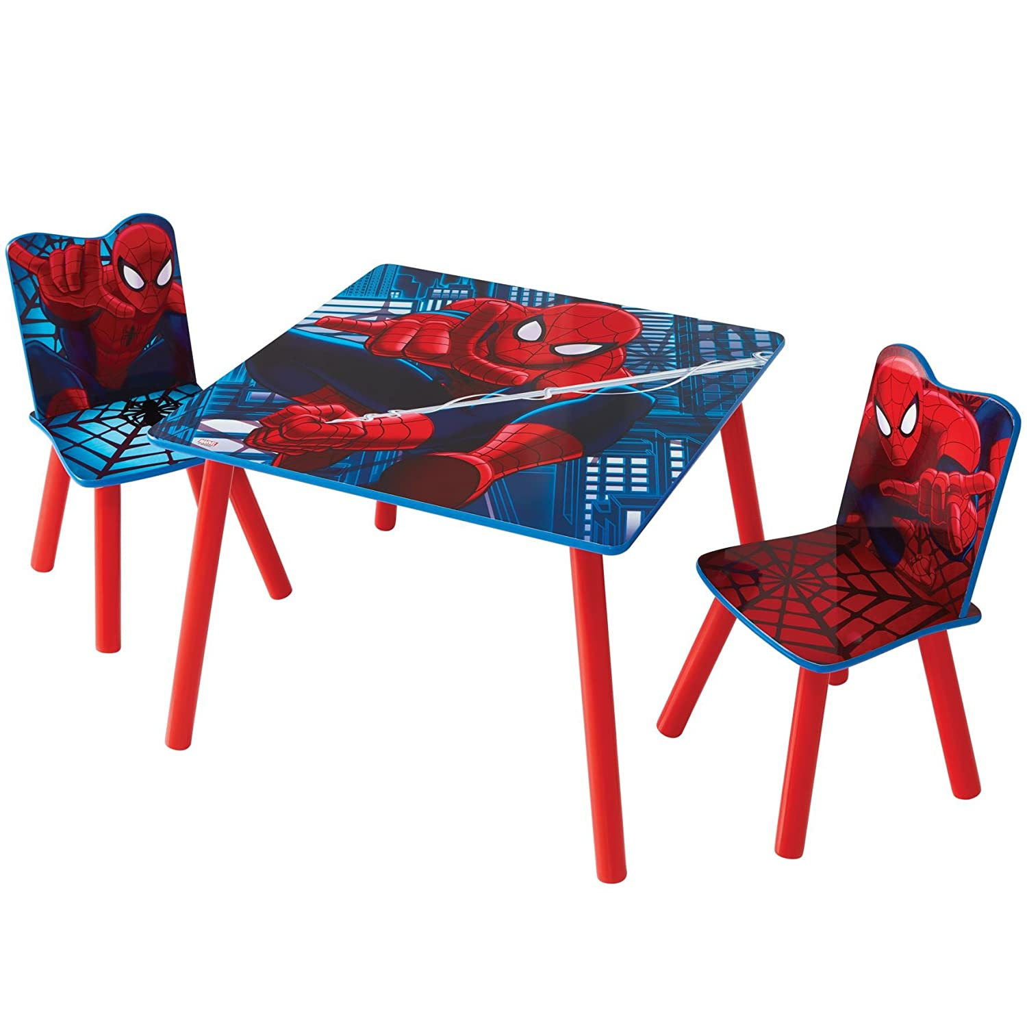 Marvel Spider-Man Kids Table and 2 Chair Set by HelloHome Worlds Apart 527SDR