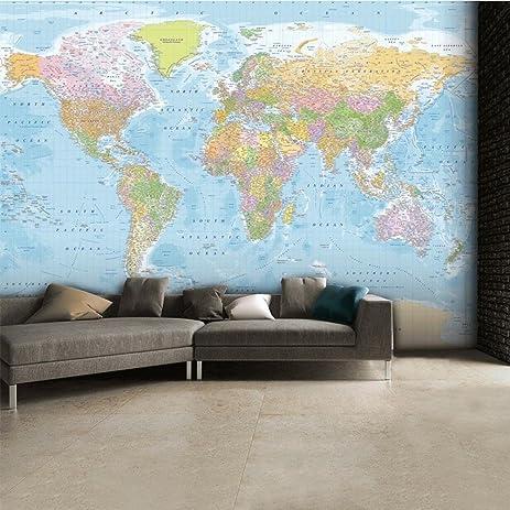 Amazon world map wallpaper mural 124 x 91in kitchen dining world map wallpaper mural 124 x 91in gumiabroncs Choice Image