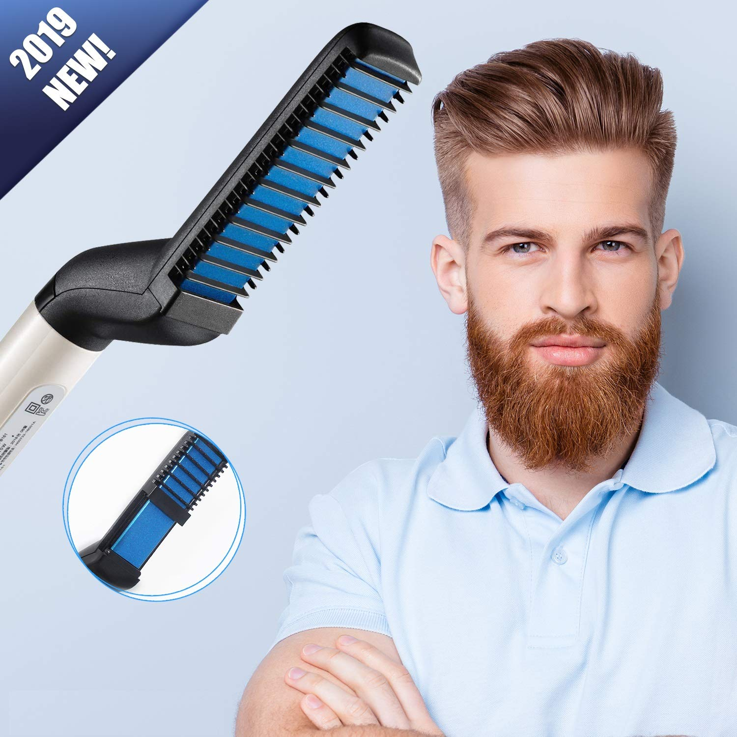 Beard Straightener, Upgraded Electric Beard Straightener and Hair Straightener, Multifunctional Beard and Hair Straightening Comb, Best Heat Beard Straightener and Hair Straightener Brush by Ulensy