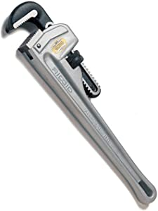 RIDGID 47057 Model 812 Aluminum Straight Pipe Wrench, 12-inch Plumbing Wrench