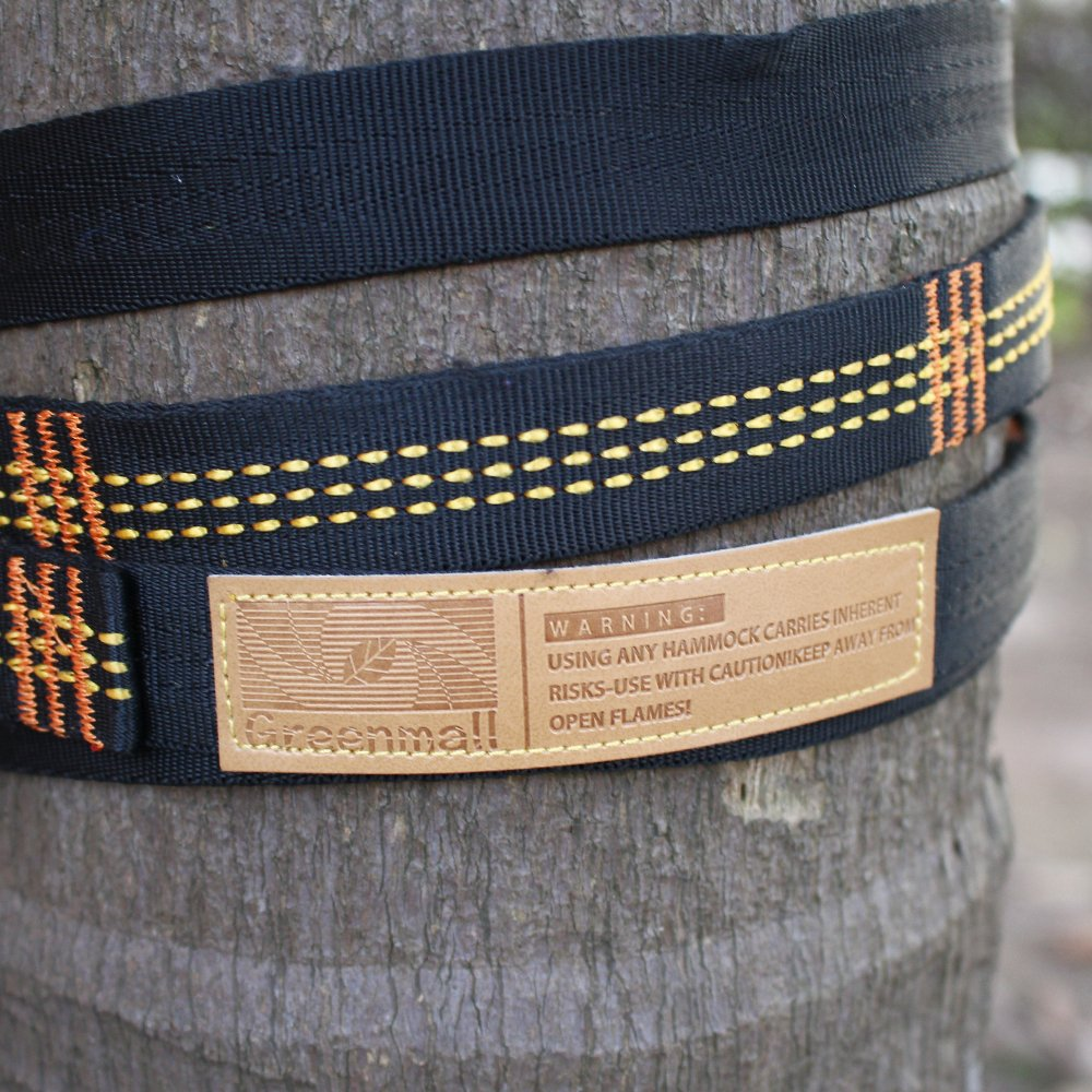 Greenmall Hammock Straps, Hammock Tree Straps Set, 10 Feet Long, 12 Adjustable Loops Extra Strong Lightweight, Camping Hammock Accessories by Greenmall (Image #6)