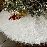 HENGSONG Blanc Peluche Jupe Arbre de Noël Christmas Tree Skirt Fête Noël Décor 78cm