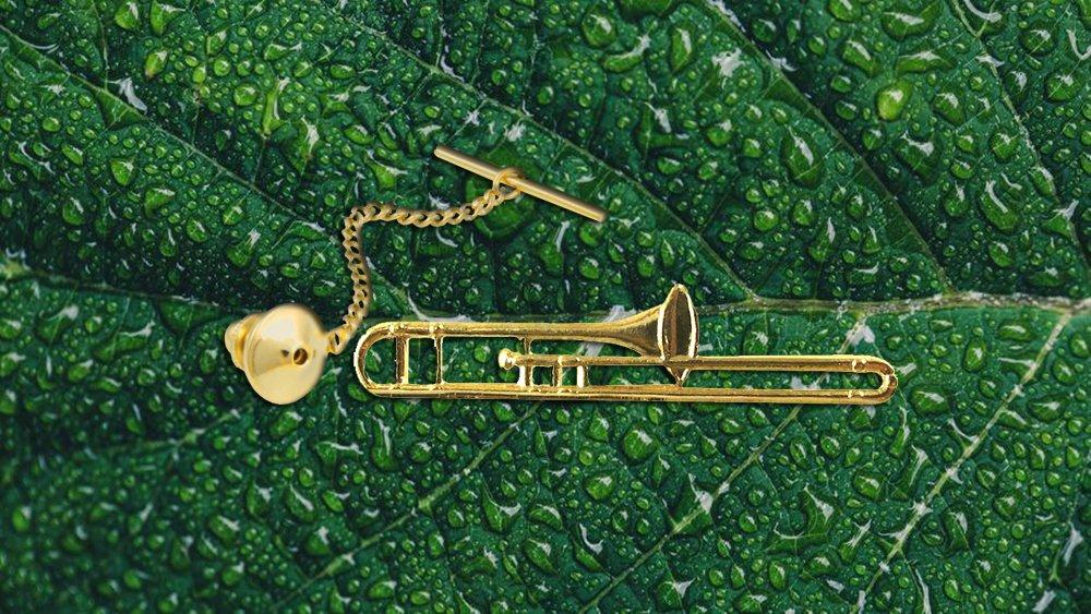 Trombone Tie Tack