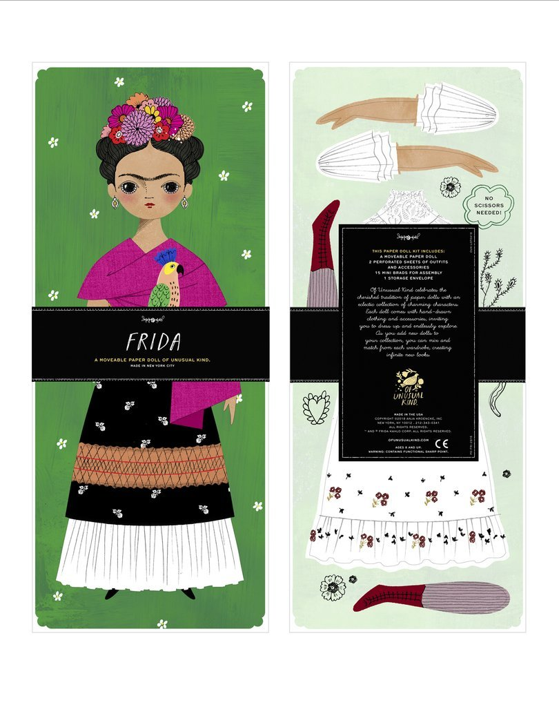 Of Unusual Kind Paper Dolls Fun Activities for Kids Paper Dolls Clothing /& 12 Frida Kahlo