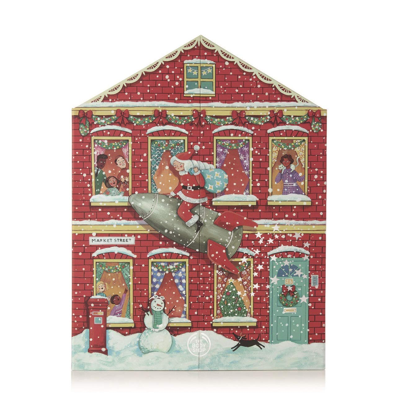 The Body Shop Deluxe Advent Calendar, 25pc Gift Set of 100% Vegan Skincare, Body Care, and Makeup Treats by The Body Shop