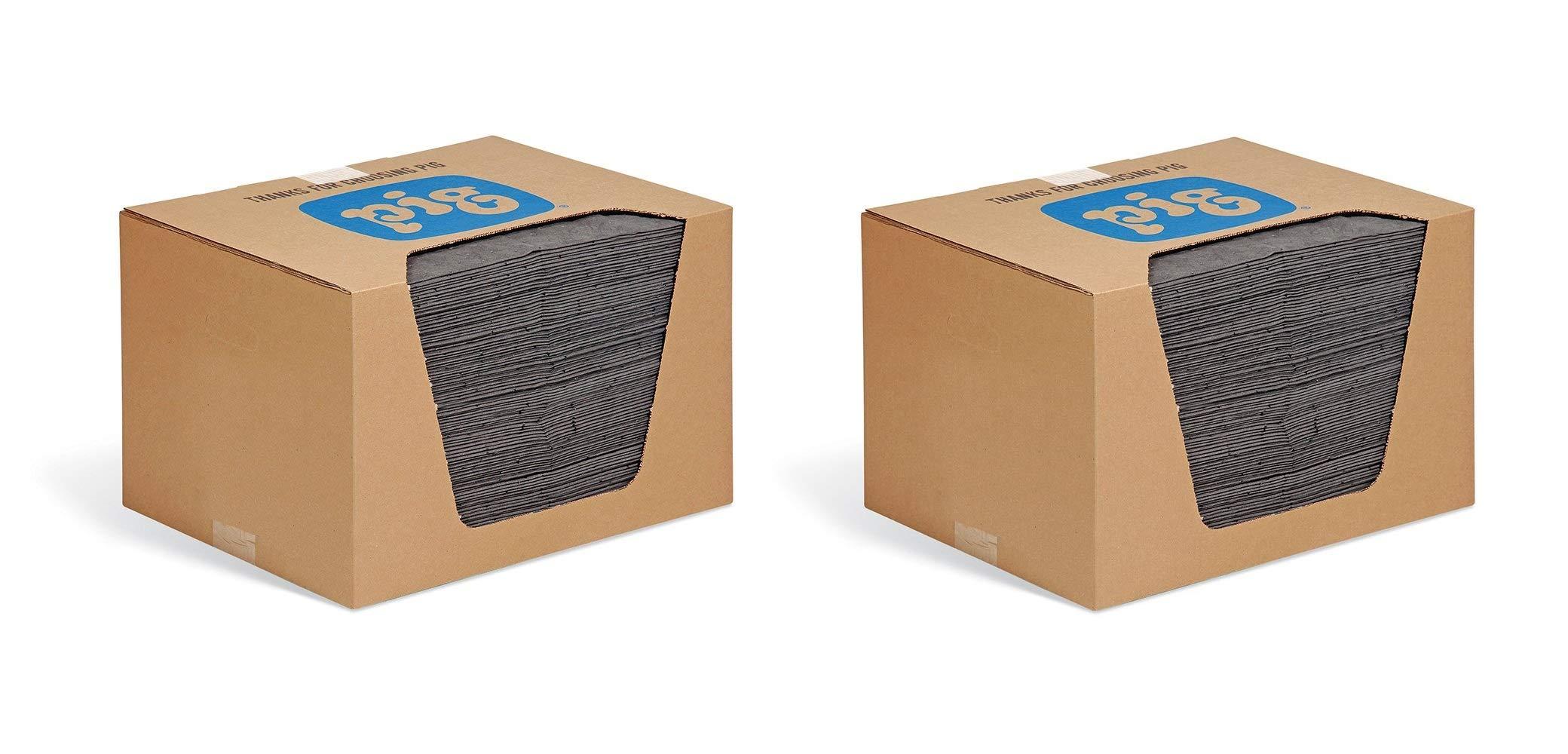 New Pig Mat - Oil Absorbent Pad Absorbs 28 Ounces - 100 Heavyweight 15'' x 20'' Mat Pads - MAT240 (2 X Pack of 100)