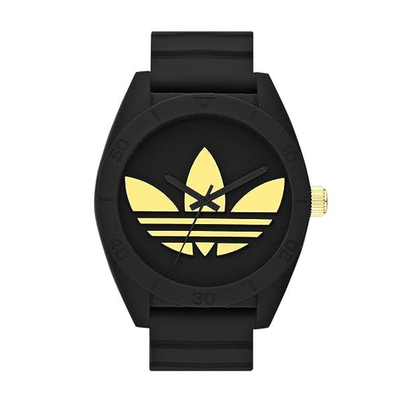 adidas Santiago - Reloj de cuarzo para hombre, con correa de silicona, color negro: Amazon.es: Relojes
