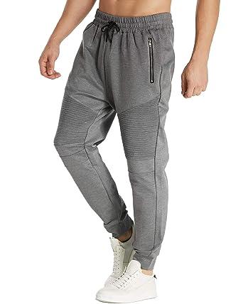 74334e4766543 MODCHOK Homme Pantalons de Sport Sweat Pants Bas de Survêtement Jogging  Casual Fit Slim Gris 1