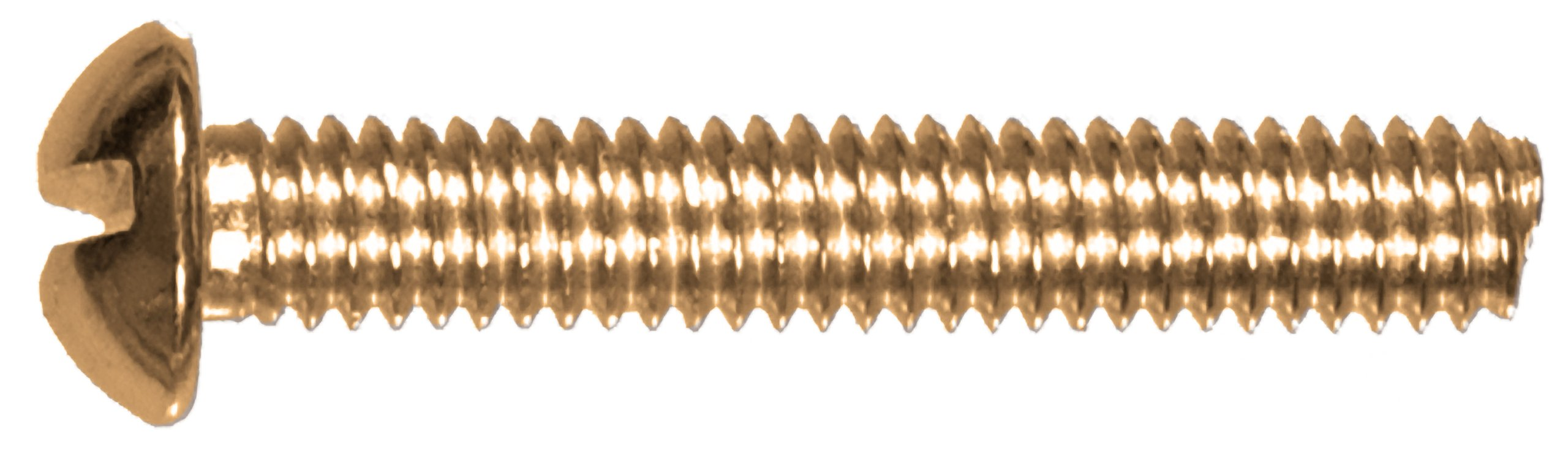 The Hillman Group 45288 10-24 x 3-Inch Round Head Slotted Machine Screw, Brass, 15-Pack by The Hillman Group
