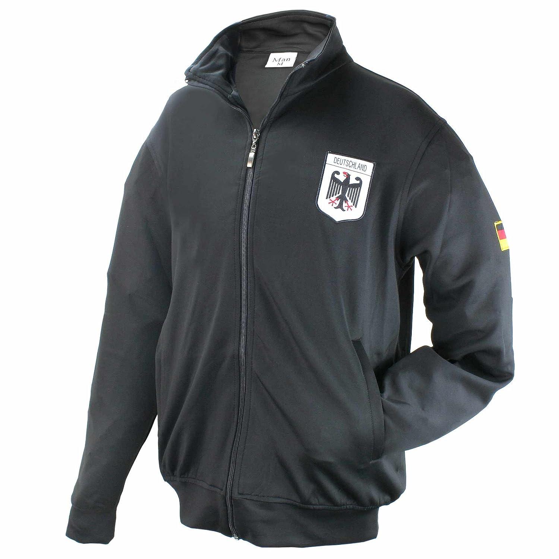 Moderne und Zeitlose Herren Deutschland Trainingsjacke in Hellblau mit Zwei Taschen auf der Vorderseite