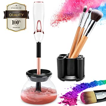 058bbfdbe2df Makeup Brush Cleaner kit, cute electric cosmetic artist Device with  Completely clean of Rotation instant Dry, luxe Automatic Wash Tool and  Dryer ...