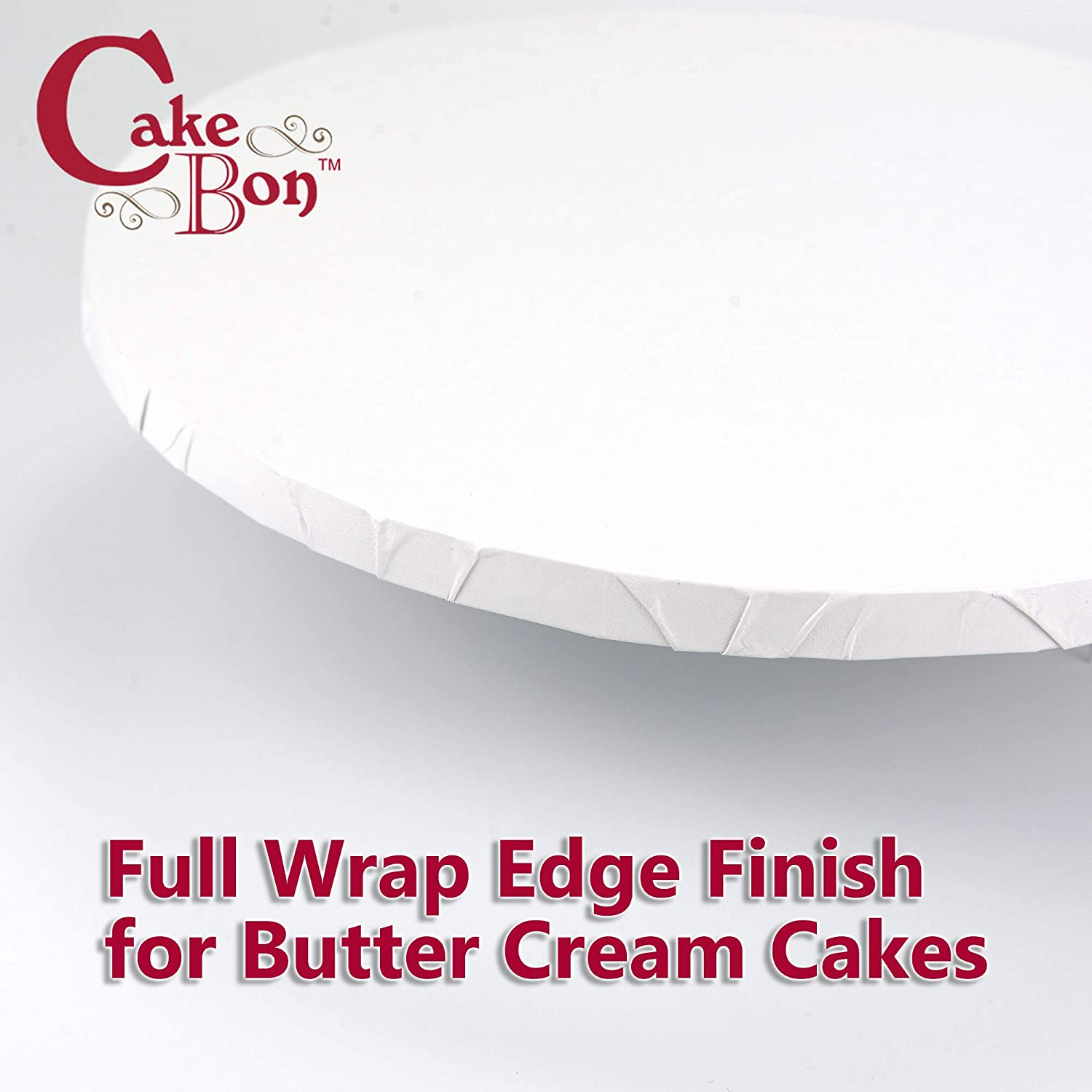 White, 12-Pack Fully Wrapped Edges Cake Drums Round 12 Inches Sturdy 1//2 Inch Thick