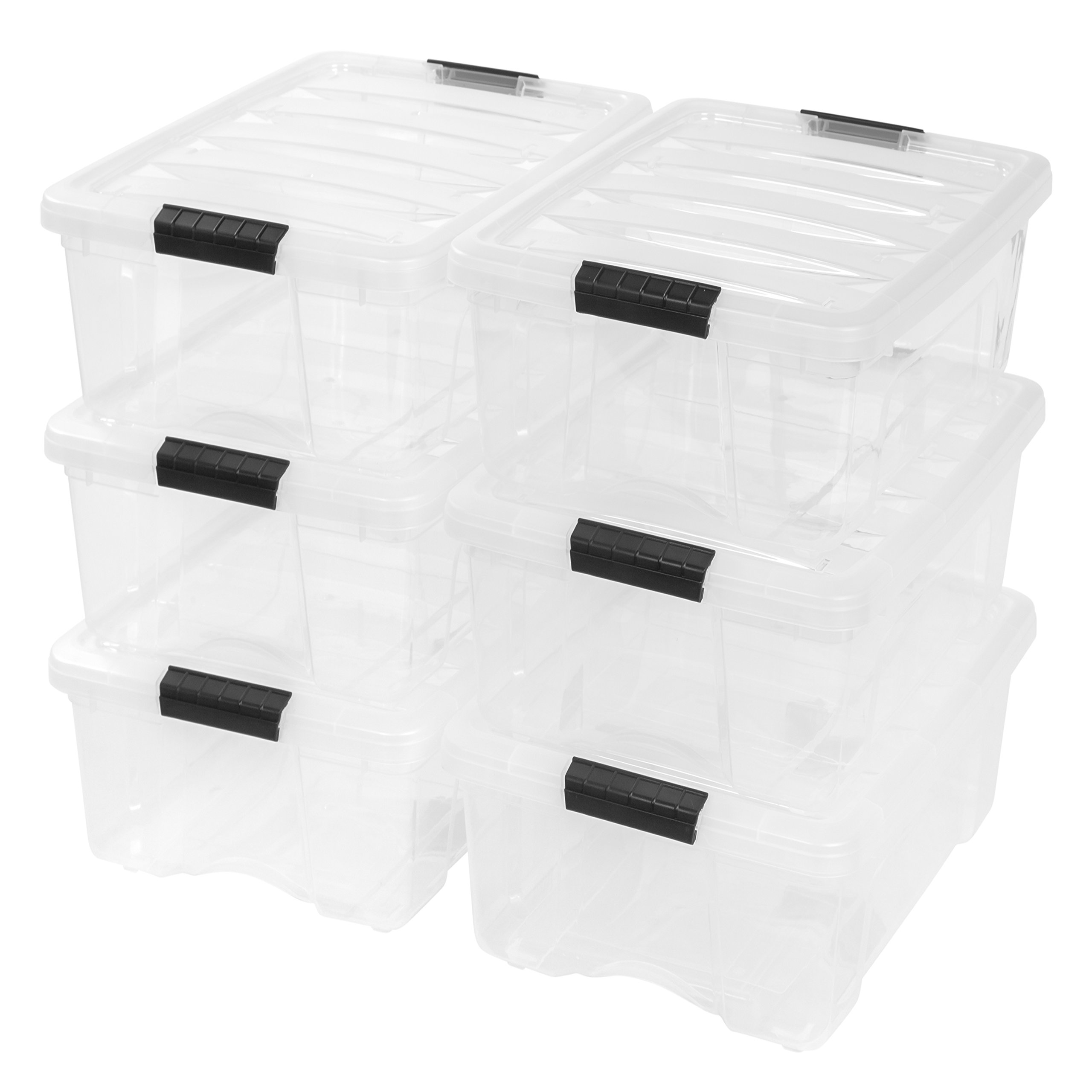 Standard 6-Piece Clear Storage Containers Set by Standard Storage Boxes