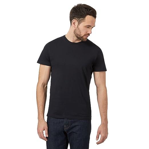 23296a88 J By Jasper Conran Men Navy Supima Cotton Crew Neck T-Shirt: J by Jasper  Conran: Amazon.co.uk: Clothing