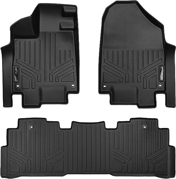 MAXLINER Floor Mats 2 Row Liner Set Black for 2018-2019 Honda Odyssey (All Models)