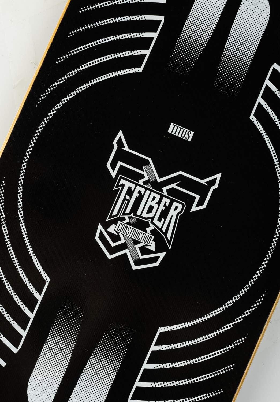 TITUS Skateboard Deck Mysterious Gate T-Fiber Black-Yellow Skateboard Deck Skateboards