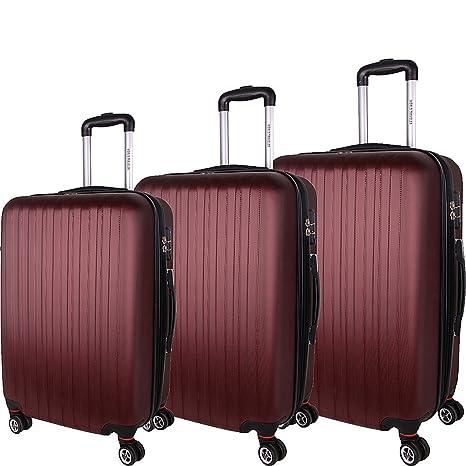 World Traveler Barcelona 3-Piece Hardside TSA Spinner Luggage Set - Champagne - Juego de