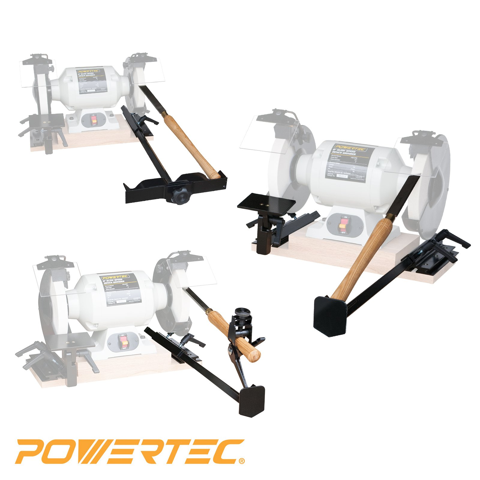 POWERTEC 71021 Bench Grinder Sharpening Jig Kit, Value Pack: 4-In-1