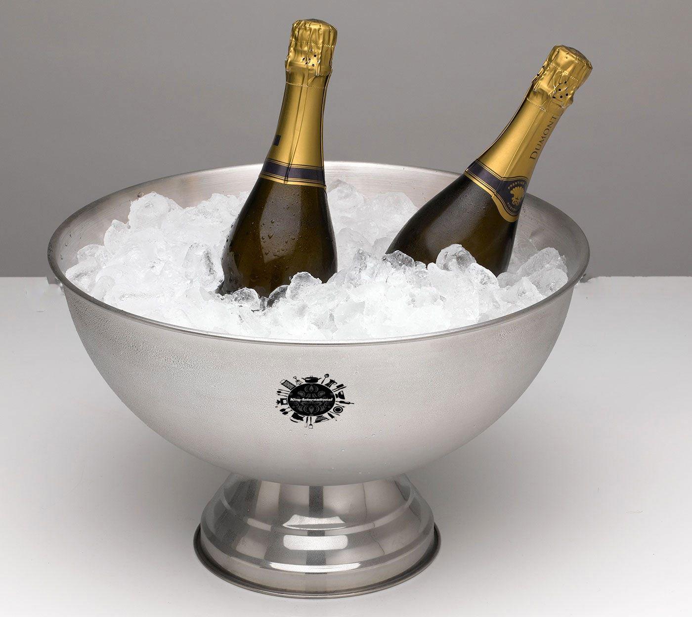 King International Stainless Steel Punch Bowl Wine Chiller | Beverage Chiller | Ice Tub - 8 L KI-DG-02