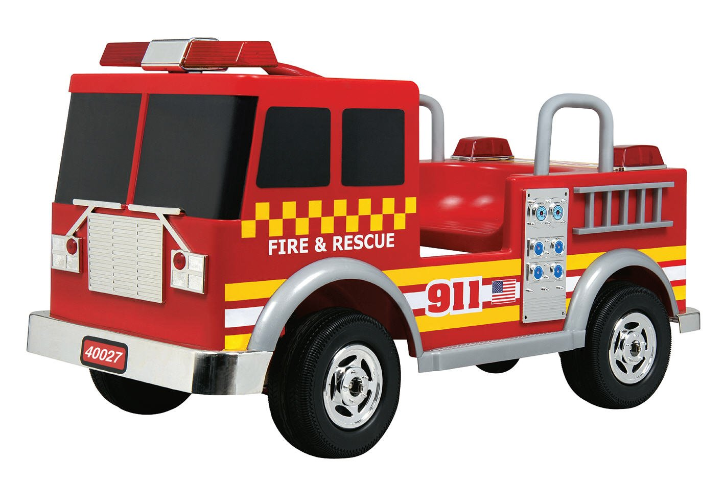 amazon com battery operated firetruck toys games