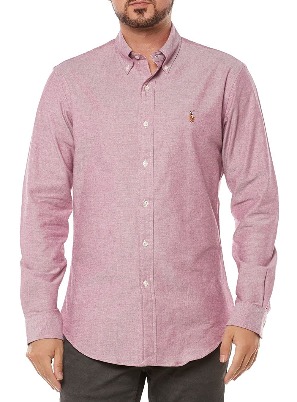 Ralph Lauren Hombre Camisa Slim Fit A04 W37cd b44 a1 Color Rosa ...