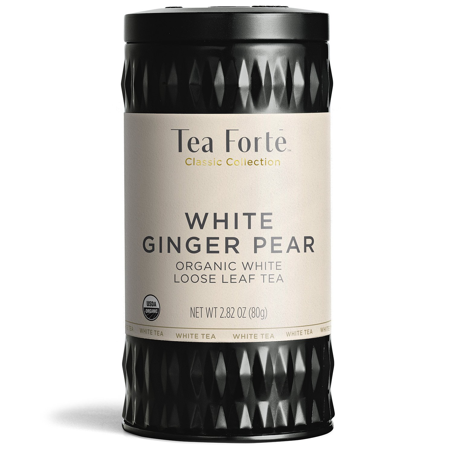 Tea Forté Organic White Tea WHITE GINGER PEAR, 2.82 Ounce Loose Leaf Tea Canister by Tea Forte