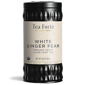 Tea Forté WHITE GINGER PEAR Organic White Tea