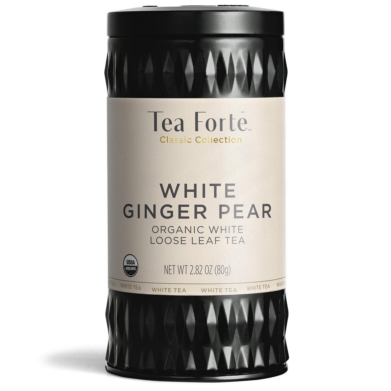 Tea Forté Organic White Tea WHITE GINGER PEAR, 2.82 Ounce Loose Leaf Tea Canister by Tea Forte (Image #1)