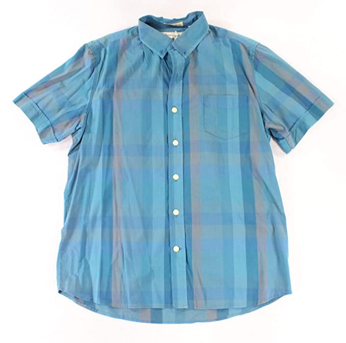 Kennington Mens Large Button Down Striped Collared Shirt Blue L at ... afbbcec739ab