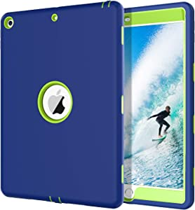 BENTOBEN iPad 8th Generation Case, iPad 7th Generation Case, New iPad 10.2 2020 / 2019 Case, Heavy Duty Rugged Shockproof Three-Layer Protective Tablet Cases for iPad 10.2 Inch 2020 / 2019, Blue&Green